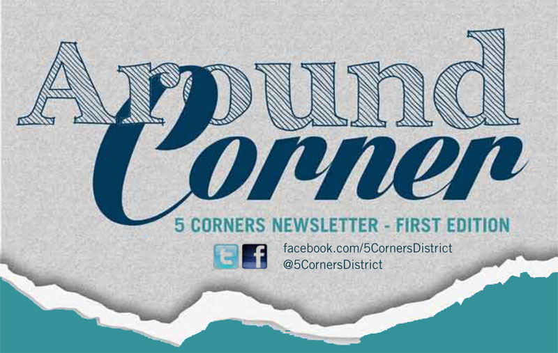 5 corners newsletter header