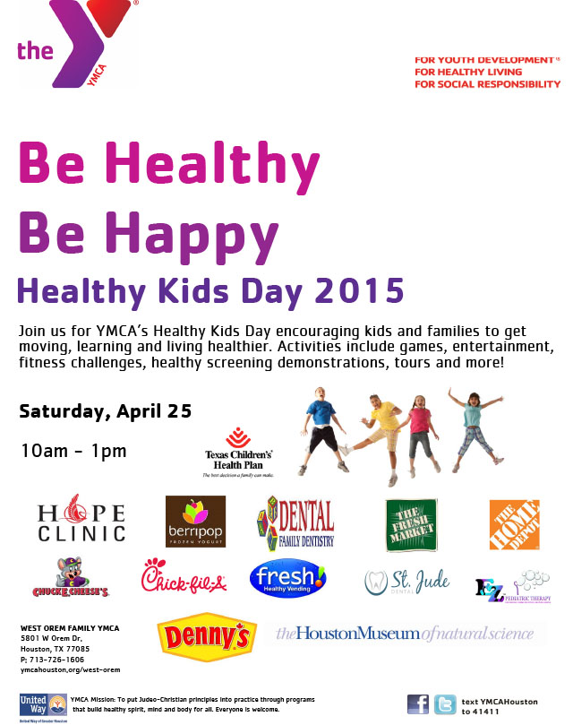 YMCAs Healthy Kids Day April 25