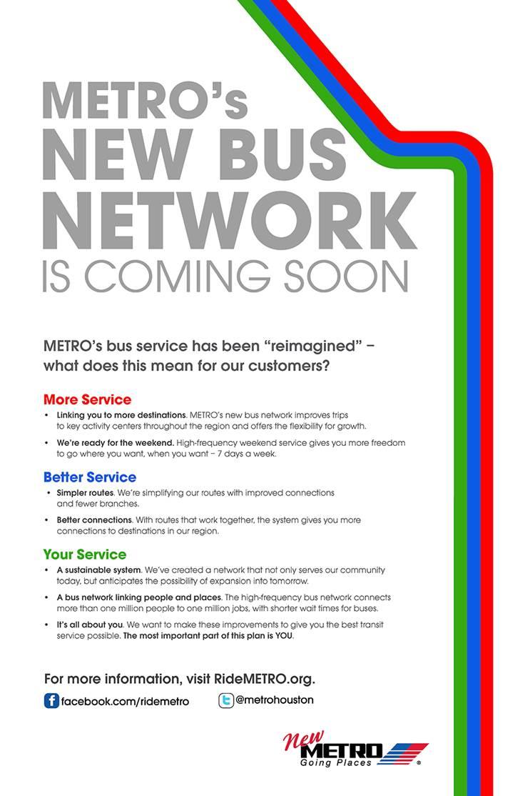 METRO's New Bus Network - Coming Soon EBLAST