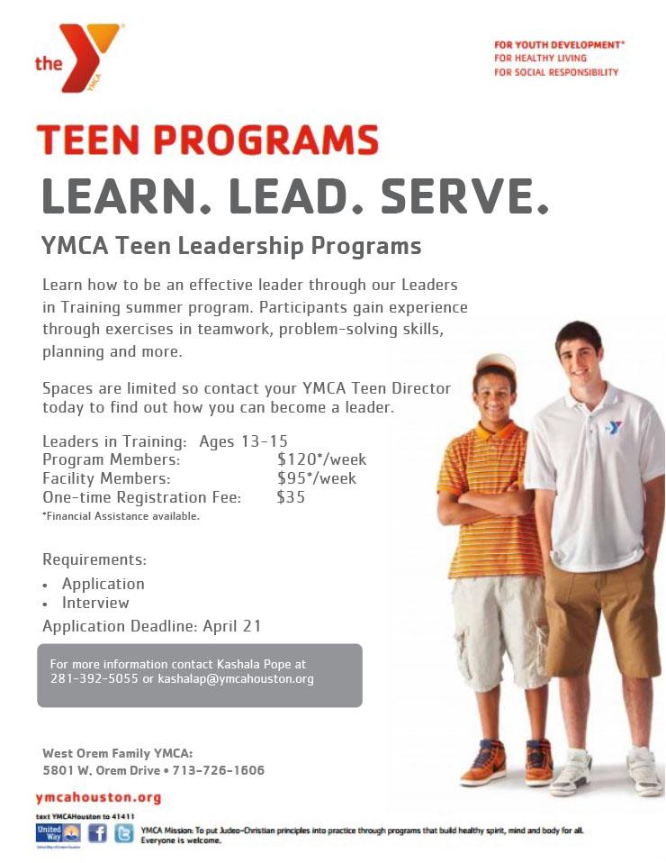 Teen Programs How 103