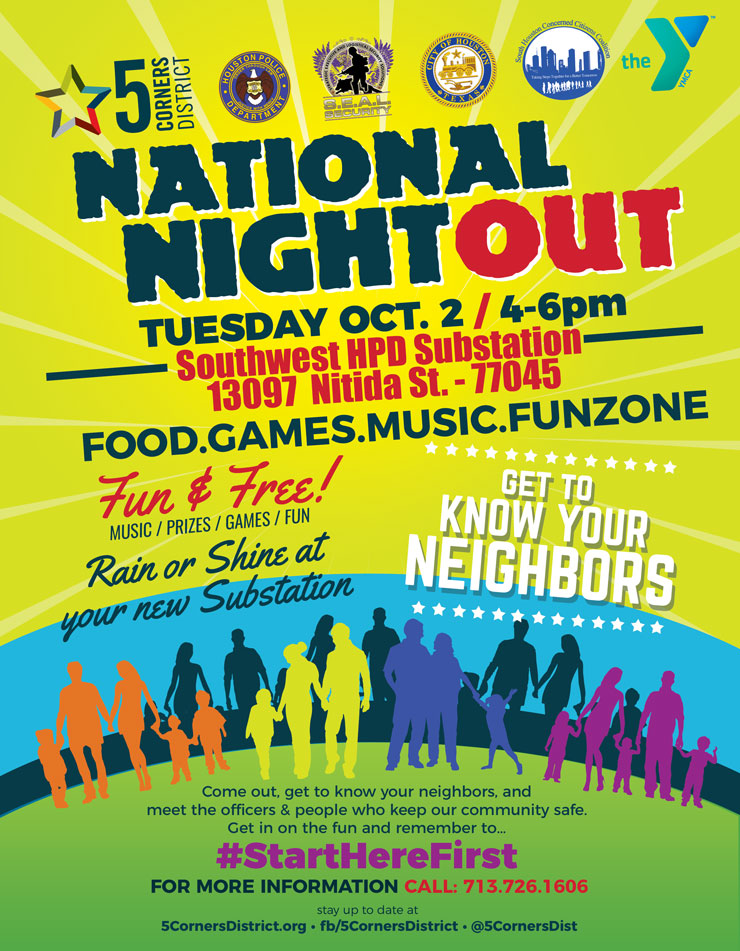 National Night Out, Oct  2