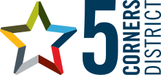 5 Corners District Logo
