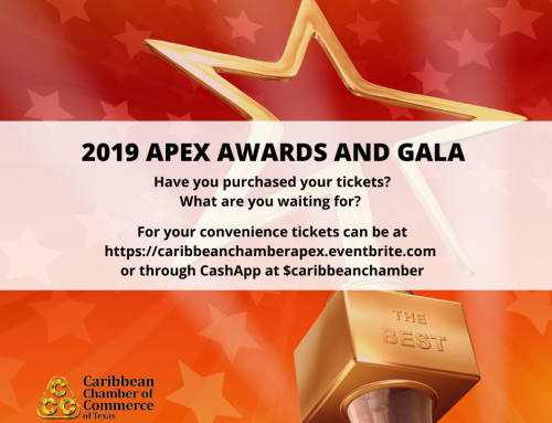 Caribbean Chamber of Commerce – 2019 Apex Awards and Dinner, Dec. 6