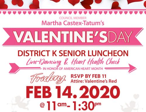 Valentine's Day District K Senior Luncheon, Feb. 14