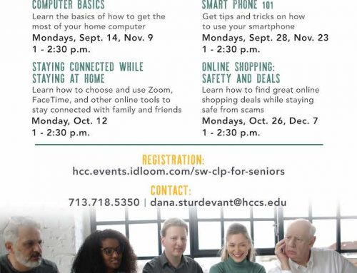 HCC: Digital Living, Free Online Classes for Adults 50+